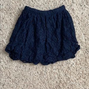 Abercrombie Kids Navy Blue Girls Shorts Size 8